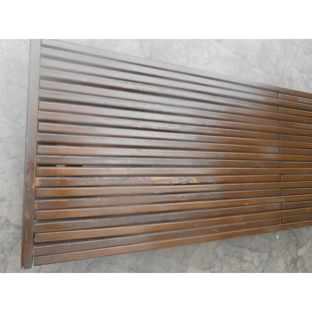 1960s Mid-Century John Keal for Brown-Saltman Expandable Slat Bench For Sale - Image 5 of 8
