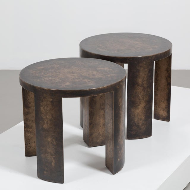 2010s The Circular Bronze Collection Side Tables by Talisman Bespoke For Sale - Image 5 of 7