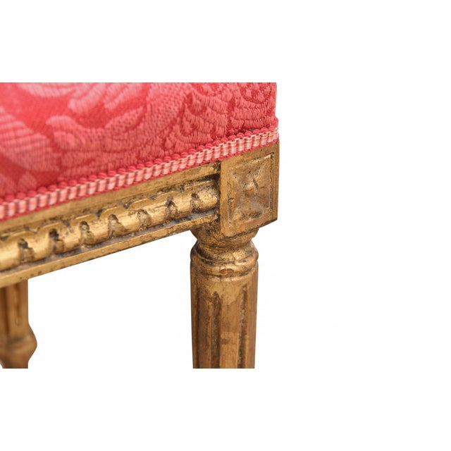 French Style Gilt Vanity & Coordinating Stool For Sale - Image 11 of 13