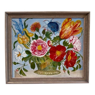 Floral Still Life Painting For Sale