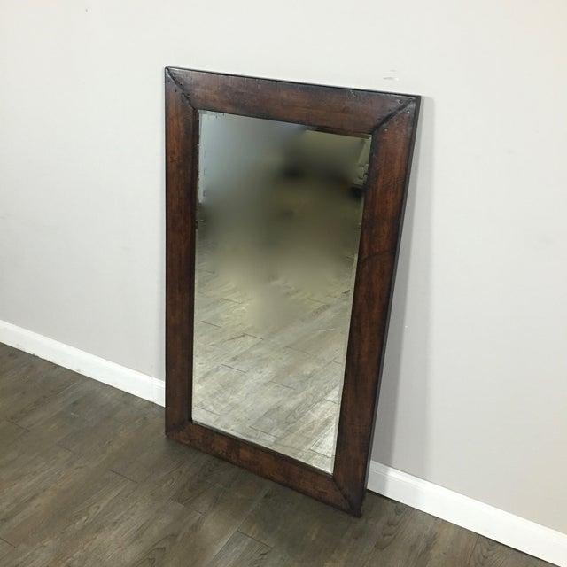 Pottery Barn Wood Frame Mirror | Chairish