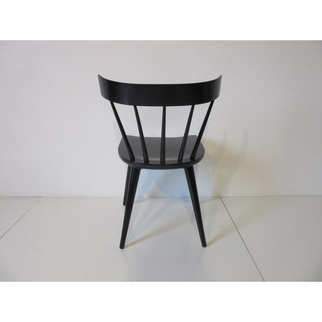 Paul McCobb Planner Group Black Maple Spindle Back Dining Chairs - Set of 4 For Sale In Cincinnati - Image 6 of 8