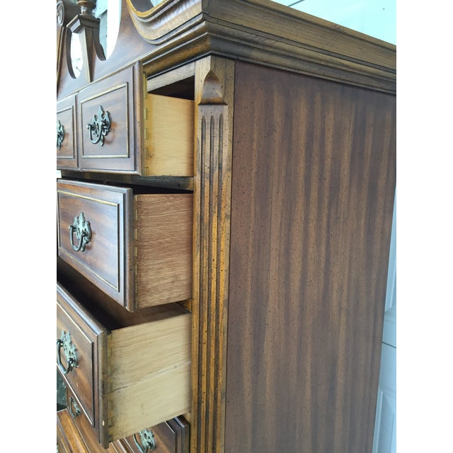 Wood Queen Anne Dixie Highboy Dresser For Sale - Image 7 of 11