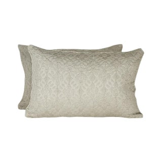 Highland Court by Duralee Silk Pillow Covers - a Pair For Sale