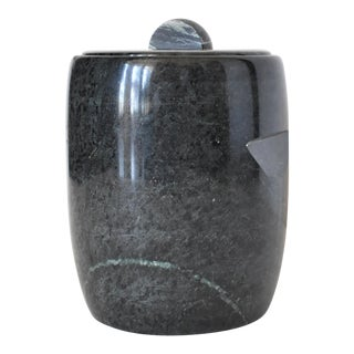 20th-Century Green Marble Ice Bucket For Sale