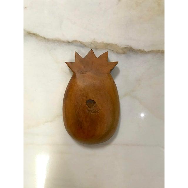 Hollywood Regency Vintage Monkey Pod Wood Pineapple Bowl For Sale - Image 3 of 6
