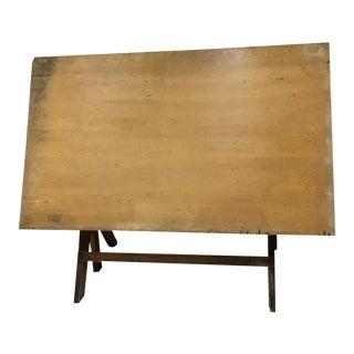 1930s Industrial Hamilton Mfg Adjustable Drafting Table For Sale