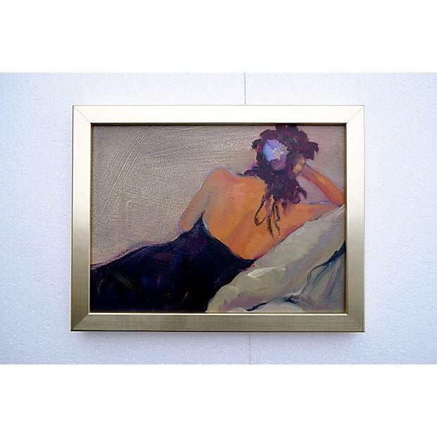 Reclining Figure Painting by Pamela Hill-Enticknap - Image 2 of 3