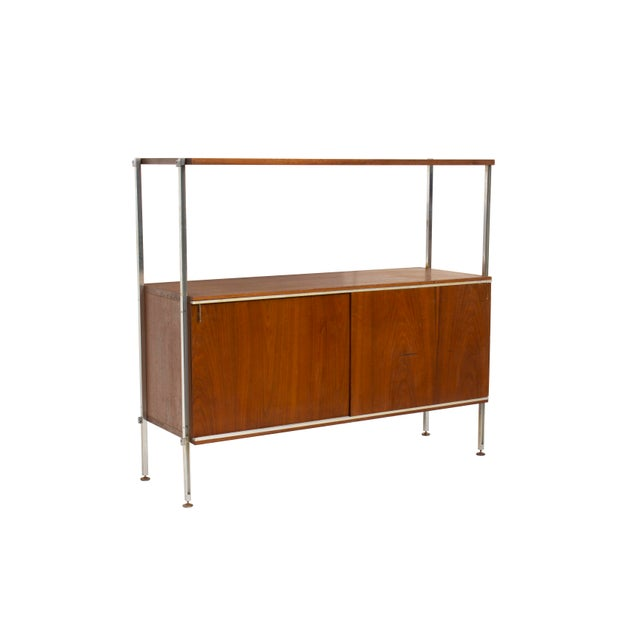 Walnut, aluminum, and chrome cabinet by Hugh Acton. Signed with label on interior of cabinet- Hugh Acton Birmingham. Great...