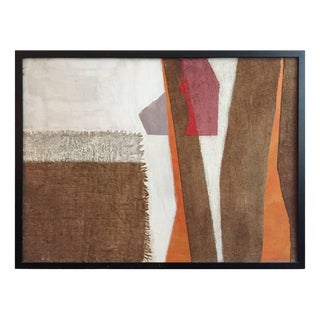 Mixed-Media in White, Orange, Grey and Violet Tones by George North Morris For Sale