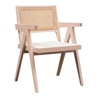 Vesta Maximilian Dining Chair in Cane and Chalk
