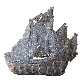 """C1920's Maison Bagues Paris """"Famous Crystal Beaded Nautical Ship Chandelier"""" - Galleon Preview"""