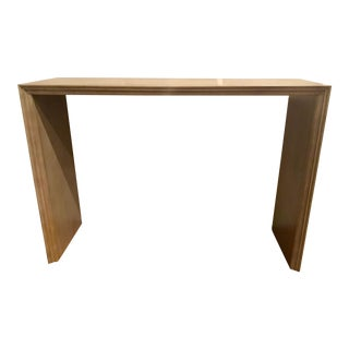 Hickory White Modern Beige Wood Console Table