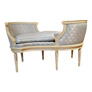 Antique French Painted Loveseat circa 1890 For Sale