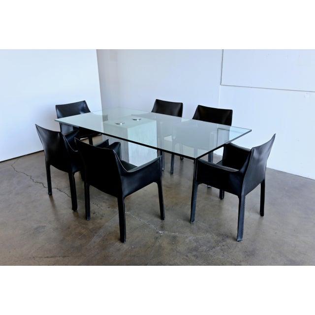 1970s Sergio & Giorgio Saporiti Concrete and Glass Dining Table For Sale - Image 12 of 13