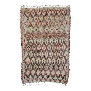 Vintage Beni Ouarain Moroccan Rug with Modern Tribal Style