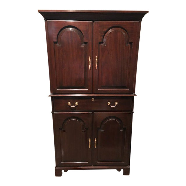 Traditional Harden Solid Cherry Armoire Entertainment ...
