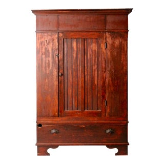 Antique Beadboard Armoire For Sale