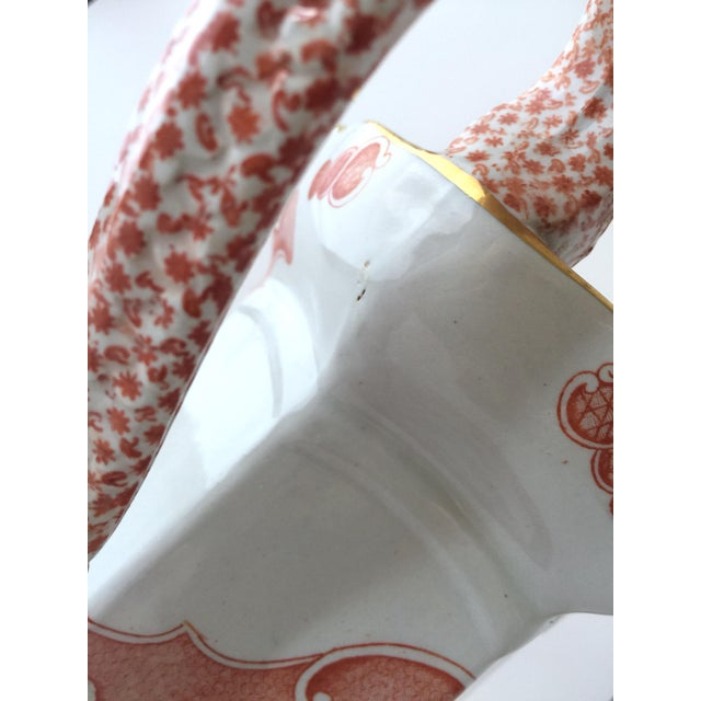 Large Mason's Ironstone Ceramic Pitcher Jug in Chinese Dragon Pattern For Sale - Image 9 of 13