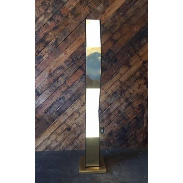 Vintage Sculptural Gold & Black Floor Lamp - Image 8 of 8