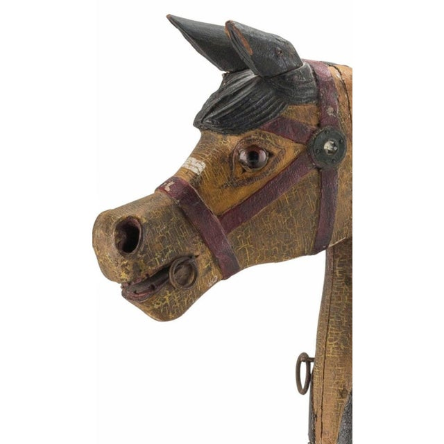 Wood 19th Century Charles Dare American Hand Painted & Carved Carousel Horse Figure For Sale - Image 7 of 11