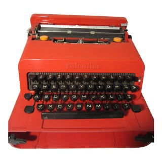 1960s Olivetti Red Valentine Typewriter by Ettore Sottsass For Sale