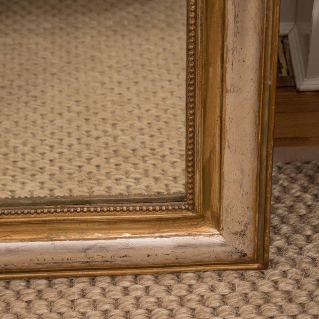 French Giltwood and Silvered Louis Philippe Mirror For Sale - Image 3 of 8