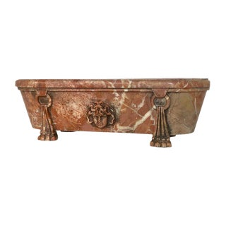 Italian Grand Tour Breccia Marble Model of Bath For Sale