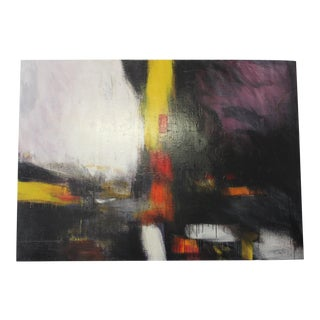Large Abstract Oil Painting on Canvas by Carlos Haves For Sale