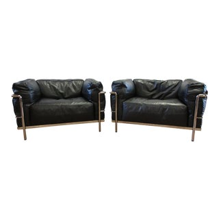 Cassina Le Corbusier Lc3 Armchairs - a Pair For Sale