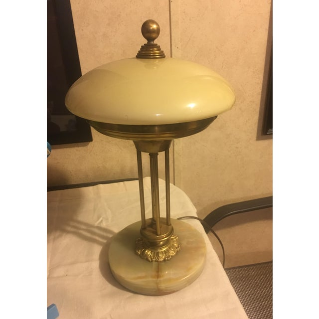 Brass & Marble Table Lamp - Image 4 of 4