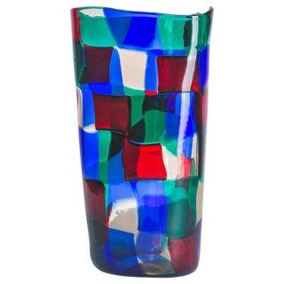 """""""Pezzato"""" Vase by Fulvio Bianconi for Venini"""