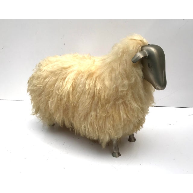 1970's Lalanne Style Sheep Ottoman Stool For Sale - Image 11 of 11