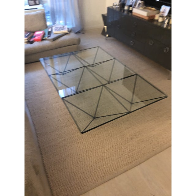 Glass Paolo Piva Alanda Rectangular Coffee Table for B&b Italia For Sale - Image 7 of 11
