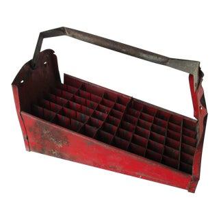 Rustic Metal Industrial Storage Tool Box For Sale