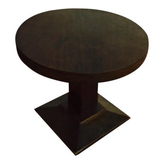 1940s Vintage French Walnut Round Table For Sale