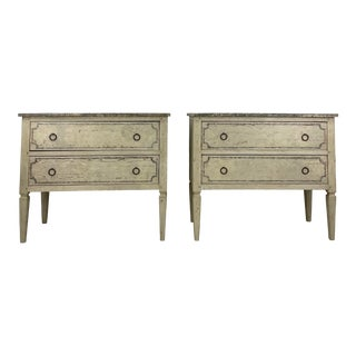 19th Century Painted Chest of Drawers - a Pair For Sale