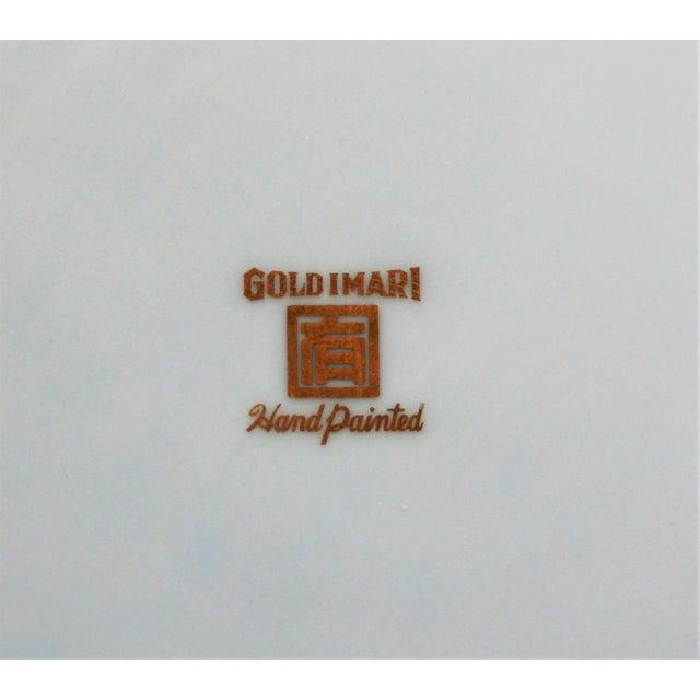 Pink Pink and Gold Imari Japanese Porcelain Platter For Sale - Image 8 of 8