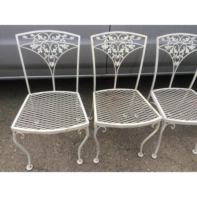 Vintage Woodard Patio Chairs Set Of 6 Chairish