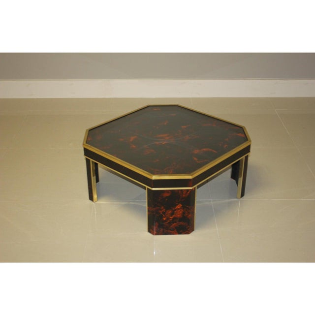 1970s French Mid-Century Modern Coffee Table by ''Sign Jean Claude Mahey '' For Sale In Miami - Image 6 of 13