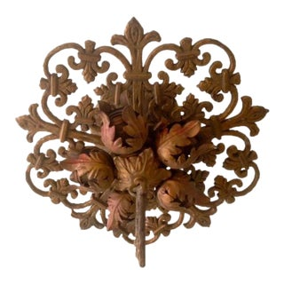 Vintage French Fleur De Lis Ceiling Light Fixture