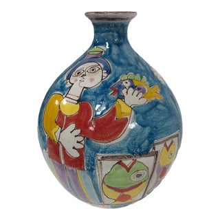 Vintage DeSimone Italian Art Vase For Sale
