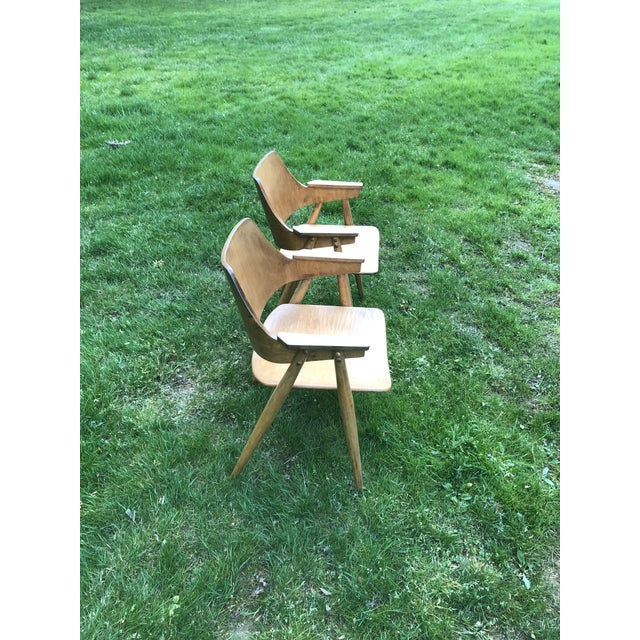 Thonet Thonet Modern Bentwood Plywood Armchairs - a Pair For Sale - Image 4 of 11