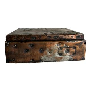 Paul Evans Patchwork Copper Box for c.c. Design, Inc. For Sale