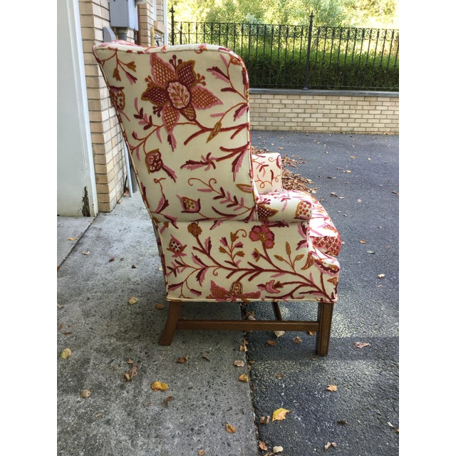 1950s Vintage English Armchair W/Crewel For Sale - Image 5 of 10