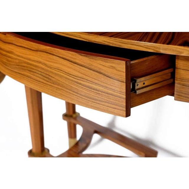 Pair Michael de Santis Brazilian Rosewood Demilune Consoles - Image 5 of 8