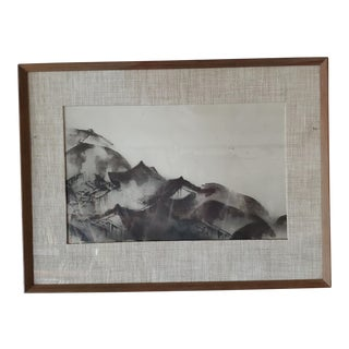 Japan Sumi Brush Painting For Sale