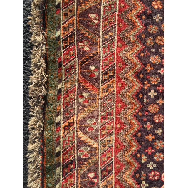 """Vintage Persian Qashqai Area Rug - 4'10"""" x 7'10"""" For Sale - Image 4 of 11"""