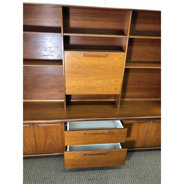 Mid 20th Century Midcentury Teak Wall Unit by Meredew For Sale - Image 5 of 13