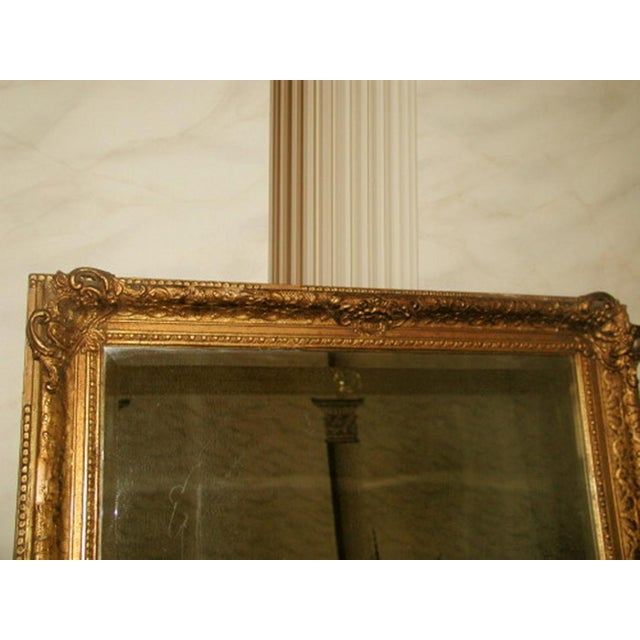 French 19th C. Carved Gilt Frame & Beveled Mirror - Image 4 of 10
